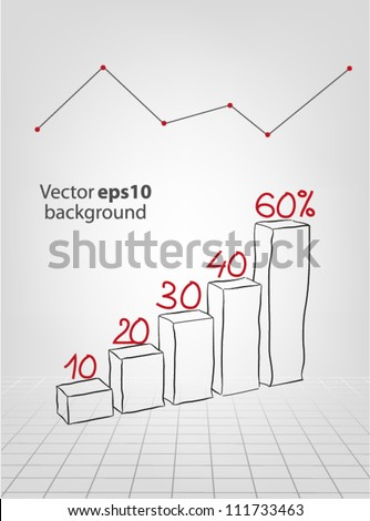 hand drawn chart - stock vector
