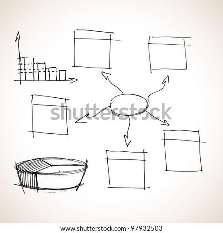 Hand drawn circle bubble - stock vector