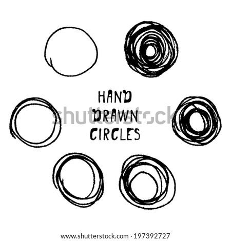 hand-drawn circle. vector illustration. - stock vector