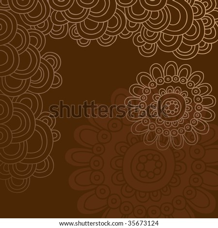 Hand-Drawn Doodle Abstract Vector Illustration - stock vector