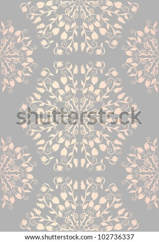 Hand drawn doodle floral ornamental seamless moroccan style pattern. - stock vector