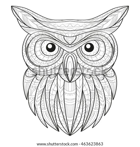 aztec owl coloring pages - photo#15