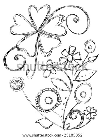 Hand Drawn Elements - stock vector
