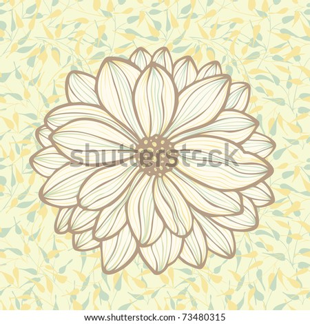 hand drawn flower on seamless pattern background, vector - stock vector