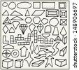 Hand drawn geometric shapes - stock vector