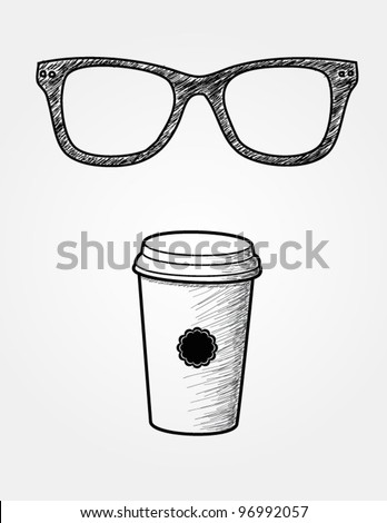 hand drawn hipster package - stock vector