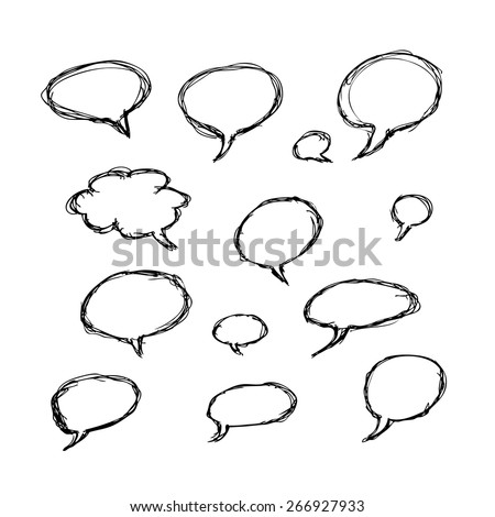 Hand drawn illustrations for use as individual designs or as a background - stock vector