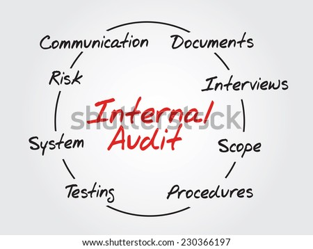 Hand drawn Internal Audit - Business Vector Concept - stock vector