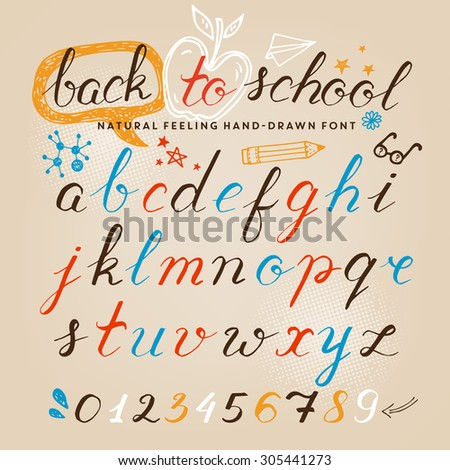 Hand-drawn letters - stock vector
