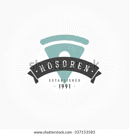 Hand drawn Pizza Restaurant Logo Vintage Style for Logotype, Label, Badge and other design. Vector illustration. - stock vector