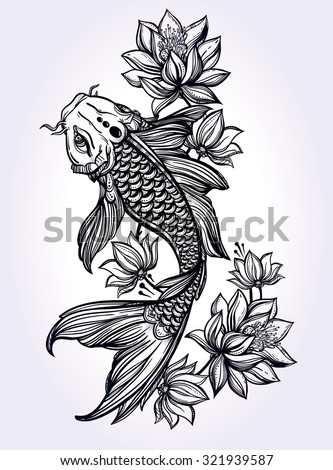 Koi stock photos images pictures shutterstock for Koi fish representation