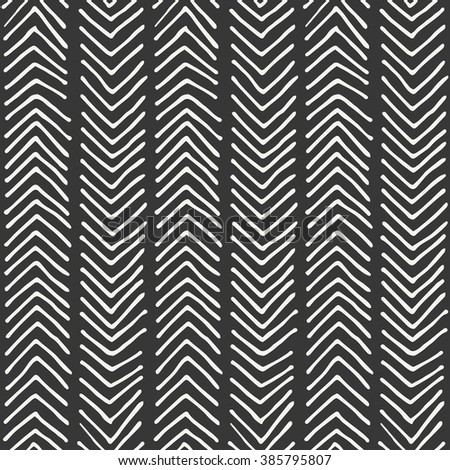hand drawn seamless pattern design. vector illustration - stock vector