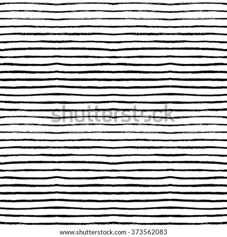 Hand drawn seamless pattern. Ink illustration. Geometric ornament for wrapping paper. Hand drawn vector pattern. Ornament with brush stripes.  - stock vector