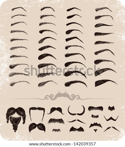 mustache  beard  eyebrows  Bushy Eyebrow Clip Art