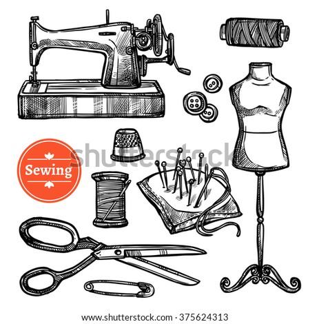 sewing machine sketch