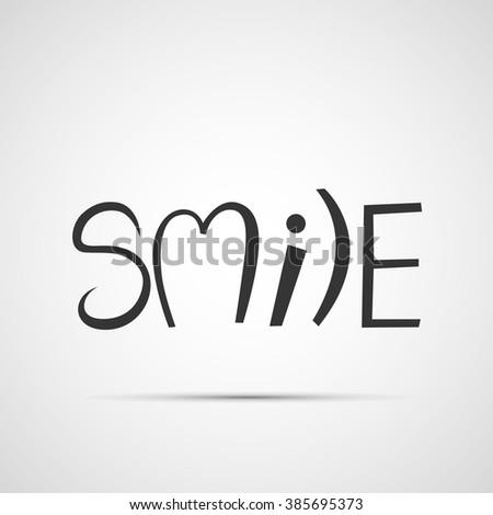 hand drawn smile font design, vector illustration, graphic design, typographic - stock vector