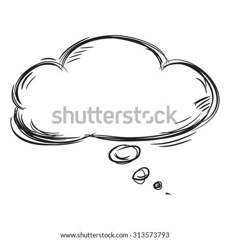 Hand Drawn Speech Bubble  - stock vector