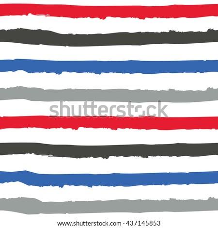 Hand drawn striped pattern design. Vector illustration.  - stock vector