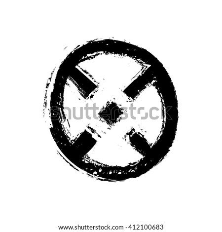 hand drawn symbol X, vector illustration - stock vector