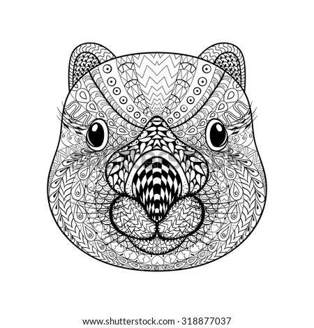 tribal animal coloring pages - photo#20