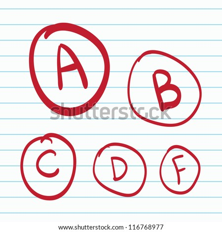Hand drawn vector grades - stock vector