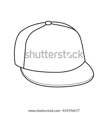 Hand drawn vector illustration of cap  - stock vector