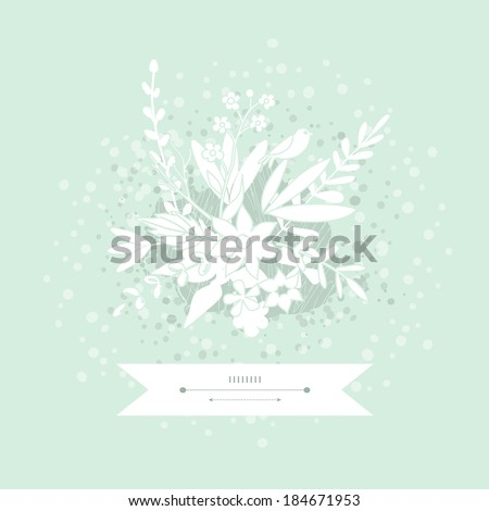 Hand Drawn vintage floral card in vector - stock vector