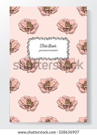 hand drawn vintage floral seamless background can be used as a book cover - stock vector