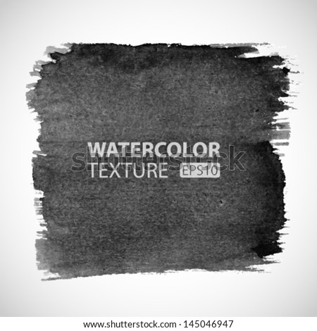 Hand Drawn Watercolor Grunge background. Vector Illustration - stock vector