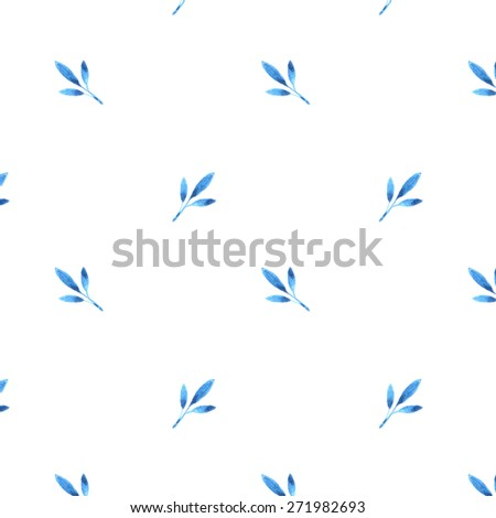 Hand drawn watercolor vector seamless floral pattern - stock vector