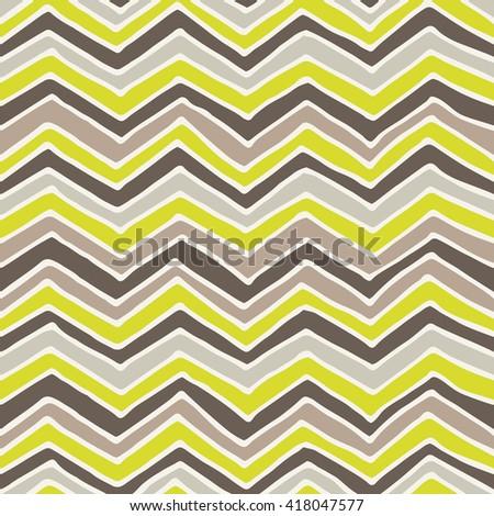 Hand drawn zigzag pattern design vector illustration - stock vector