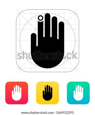 Hand finger id icon. Vector illustration. - stock vector