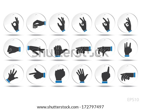 Hand Gesture Icon : Illustration EPS10 - stock vector