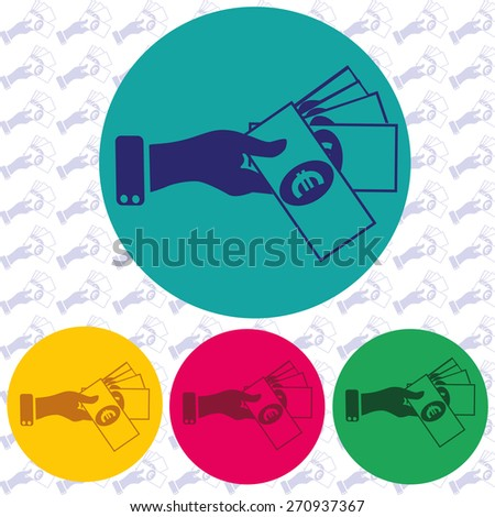 Hand giving money icon - stock vector