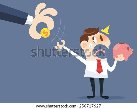 Hand grabbing money - stock vector