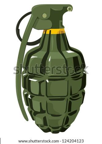Hand grenade - stock vector