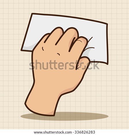 hand holding paper theme elements vector,eps - stock vector