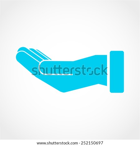 Hand Icon Isolated on White Background - stock vector