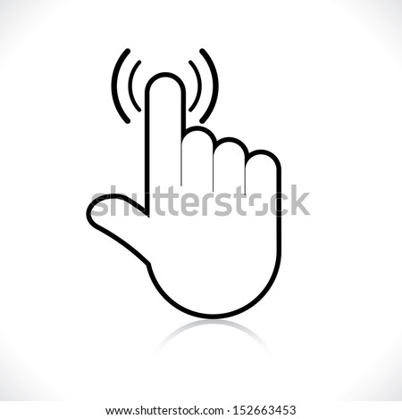 hand icon pointer. vector eps8 - stock vector