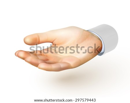 hand illustration - vector - stock vector