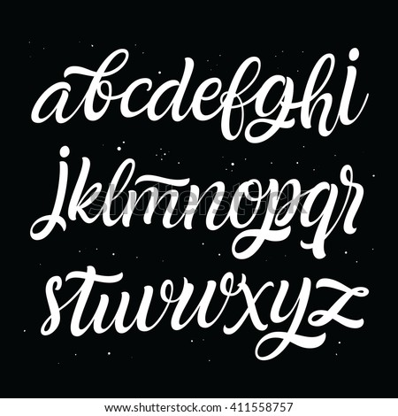 Hand lettering and custom typography typeface for your designs: logos, for posters, wedding invitations, greeting card, labels. Vector font.  - stock vector