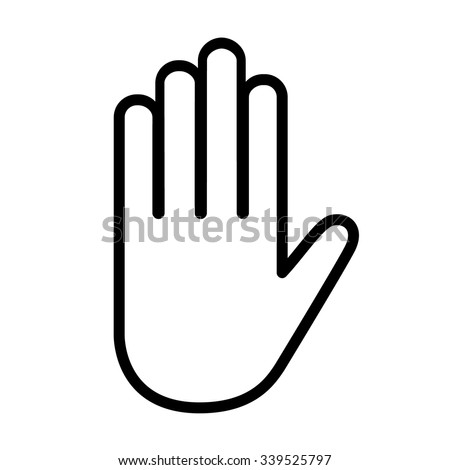 Hand line icon. Stop icon . Vector illustration - stock vector