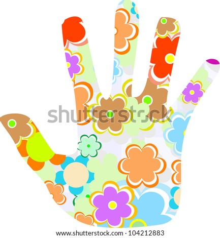 hand made from cute flower isolated on white - stock vector