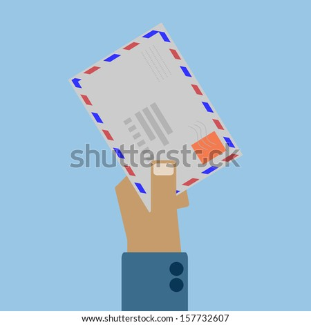 hand mail - stock vector
