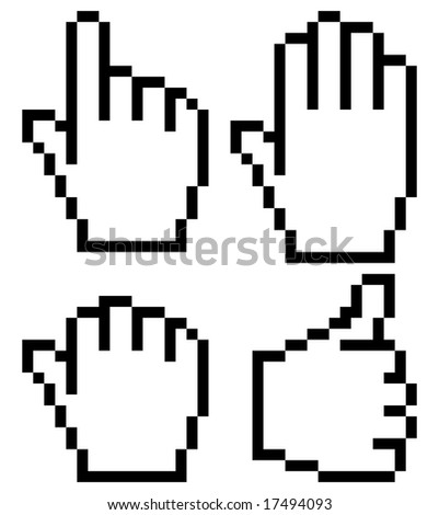 hand mouse symbol - stock vector
