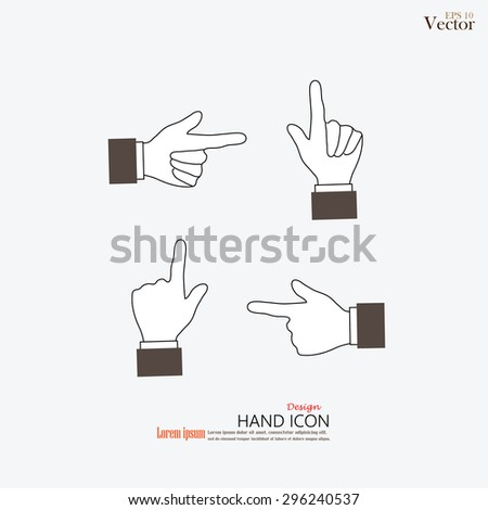 hand pointing .hand.vector illustration.  - stock vector