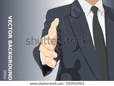 Hand ready to shake - stock vector