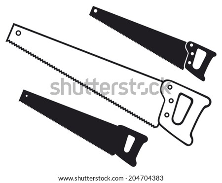 hand saw (handsaw) - stock vector