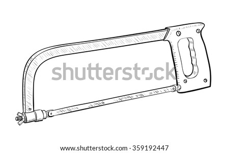 Hand saw isolated on white background vector Illustration - stock vector