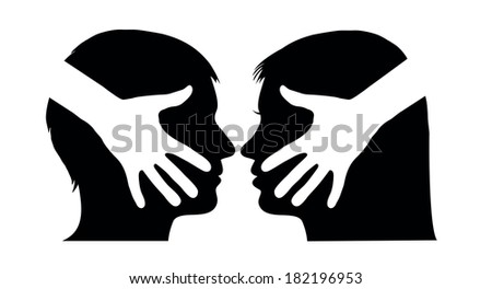 Hand shake between man and woman - stock vector